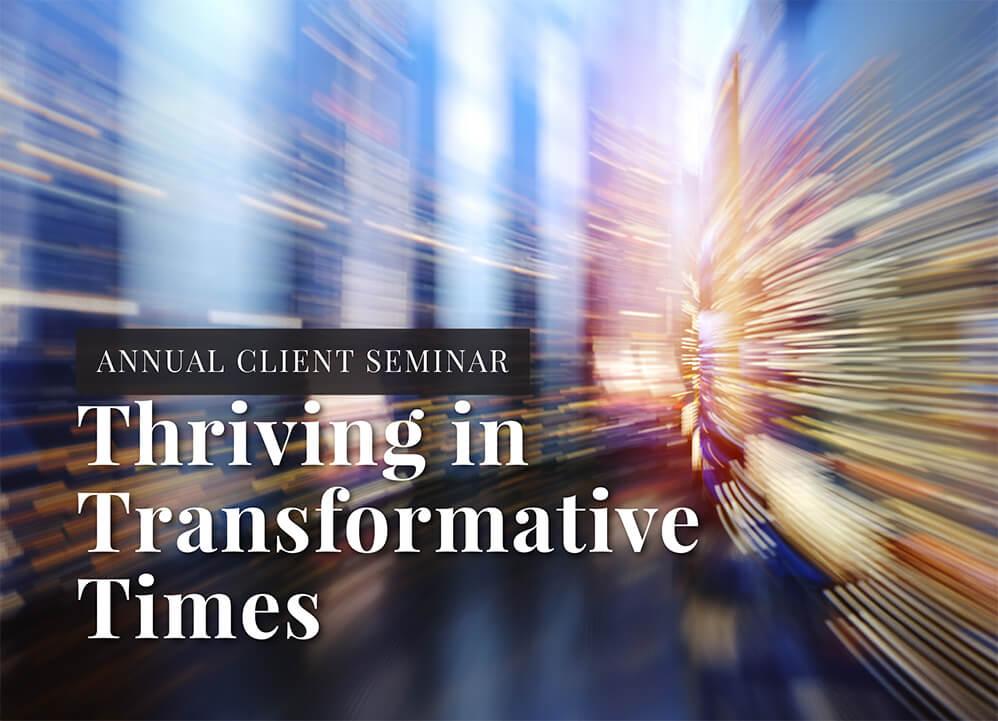 Annual Client Seminar